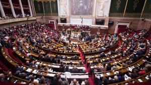 Frankreichs Nationalversammlung im palais Bourbon