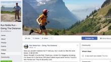 Robert Pope im Titelbild seine Facebook-Accounts vor US-Kulisse