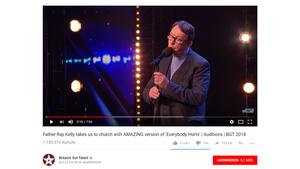 """Der irische Priester Ray Kelly während seines Auftritts bei """"Britain's Got Talent"""""""