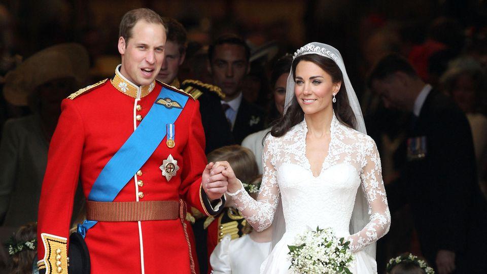 Prinz William und Kate Middleton bei ihrer Hochzeit im April 2011
