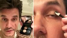 John Mayer So Witzig Schminkt Sich Der Sanger Smokey Eyes Auf