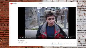 Jawed Karim im ersten Youtube-Video