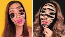 Visagistin Mimi Choi postet Illusionen auf Instagram