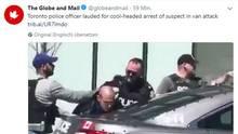 Hier wird der Todesfahrer von Toronto, Alek Minassian, festgenommen
