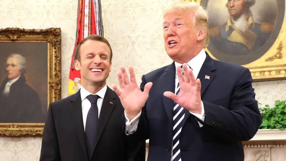 Washington: Beim Staatsbankett mit Macron vergisst Trump seine Frau Melania