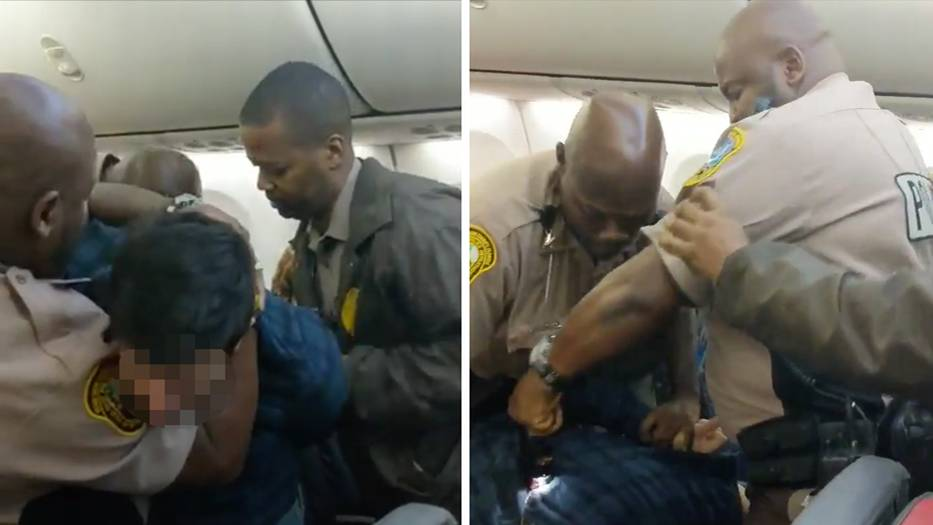 US-Flug: Taser im Dauereinsatz: Polizei holt widerspenstigen Mann aus Flugzeug