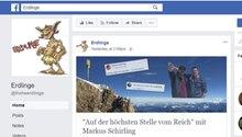 """Unter anderem auf der Facebook-Seite der """"Erdlinge"""" wurde das Bild des AfD-Mannes Markus Schirling gepostet"""