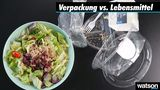 Dieser Salat besteht aus sieben Plastikteilen
