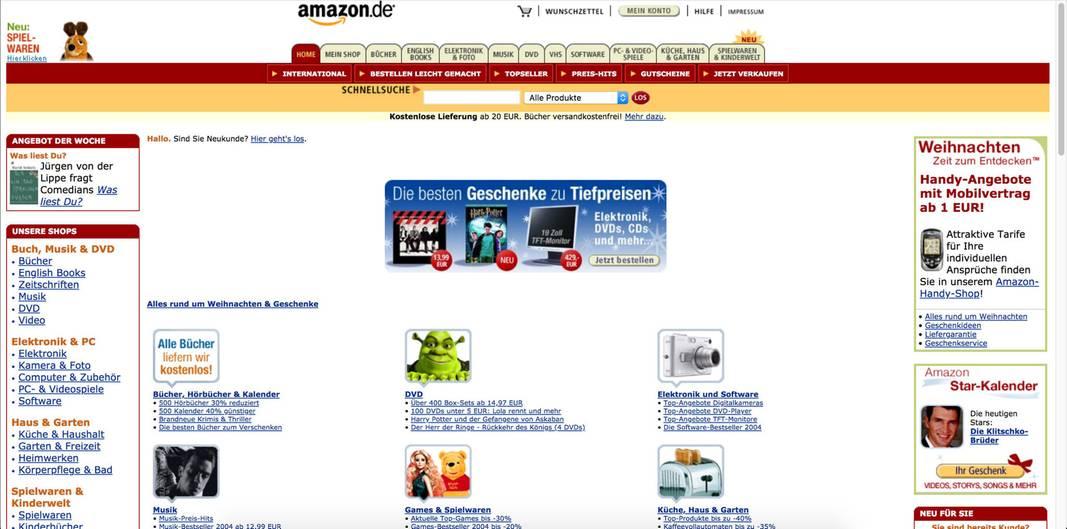 Facebook, Amazon und Co.: So sahen bekannte Websites früher aus   NEON
