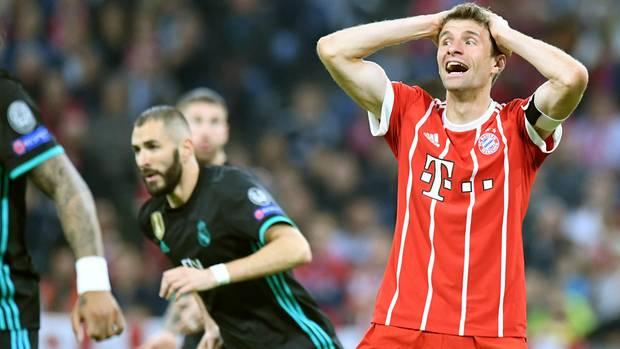Thomas Müller hatte in der Champions League bereits nach wenigen Sekunden die Führung auf dem Fuß, vergab aber