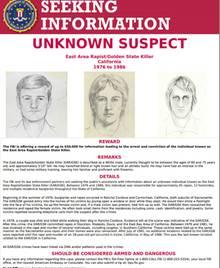 Golden State Killer Flugblatt