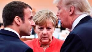 Donald Trump Angela Merkel Emmanuel Macron