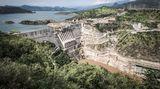 ...ebenfalls von Fausto Podavini stammt dieses Foto des Gibe III-Staudamms.