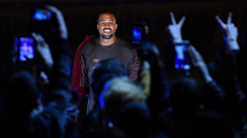 Kanye West beim Konzert