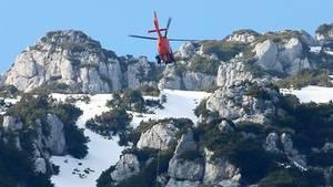 Ein Rettungshubschrauber der Bergwacht