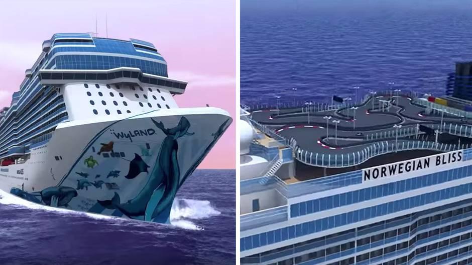 """Luxusliner """"Norwegian Bliss"""": Kartfahren und Laser-Tag: Dieses Kreuzfahrtschiff zieht alle Register"""