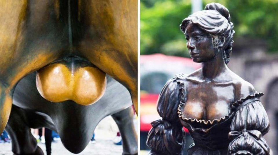 Statuen werden häufig an ihren intimsten Stellen angefasst