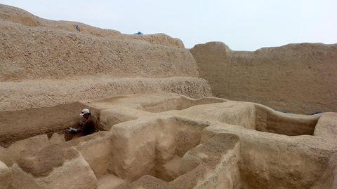 Chan Chan-Ruinen in der Nähe der peruanischen Stadt Trujillo. Chan Chan war die Hauptstadt des Chimú-Reiches (Archivbild)
