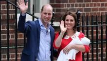 William und Kate zeigten sich wenige Stunden nach der Geburt ihres Sohnes der Öffentlichkeit