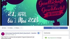 Screenshot der Facebook-Seite