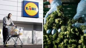 Handprodukte im Supermarktregal