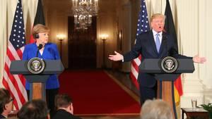 Angela Merkel besucht Donald Trump: Zwei Strategien haben die Europäer bei Donald Trump angewandt - keine hat funktioniert