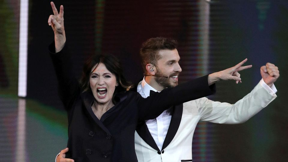 Edin Hasanovic und Iris Berben bei der Verleihung des Deutschen Filmpreises Lola