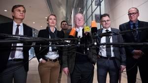 """Mitglieder der AfD-Bundestagsfraktion (Archivbild).Antisemitismusbeauftragter Felix Klein wirft der Rechtspartei """"durchschaubare Manöver"""" vor."""