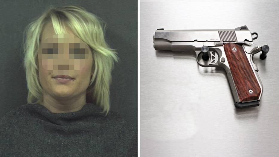 In der Vagina der 27-jährigen US-Amerikanerin wurde eine geladene Handfeuerwaffe gefunden