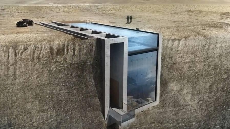 Architektur: Leben am Abgrund: Futuristisches Haus soll an einer Klippe gebaut werden
