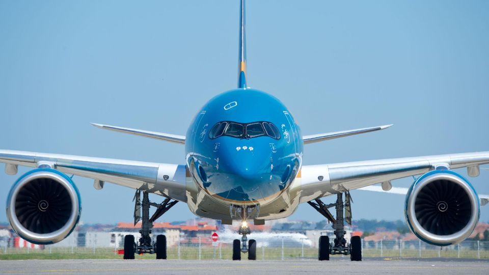 Ein Airbus von Vietnam Airlines (Symbolfoto)