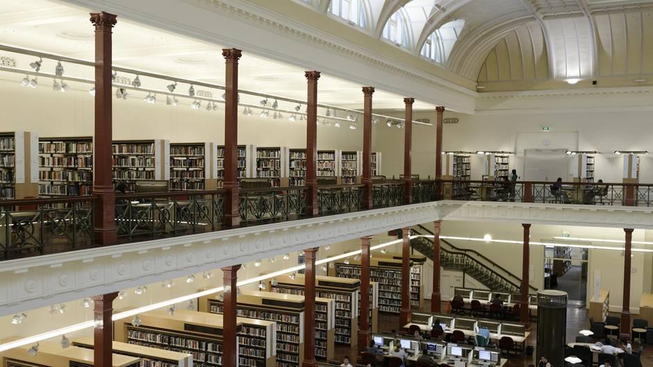Der Lesesaal der Universitätsbibliothek in Melbourne