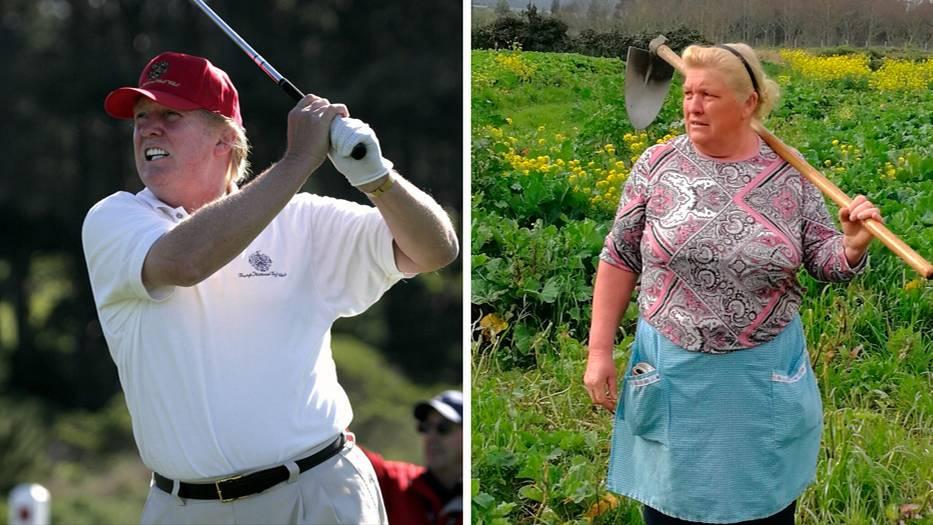 Coba deh lihat baik-baik, perempuan ini memang punya wajah yang mirip banget sama Donald Trump