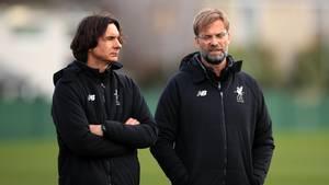 Wird es das nochmal geben? Liverpool-Coach Jürgen Klopp und sein Assistent Zeljko Buvac zusammen beim Training