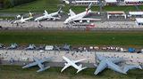 Die Antonov An-225 war nicht das einzige Großraumflugzeug. Emirates kam wie bei fast jeder ILA mit einem Airbus A380. Die Airline aus Dubai hat allerdings keine Landerechte für regelmäßige Linienflüge in die deutsche Hauptstadt.