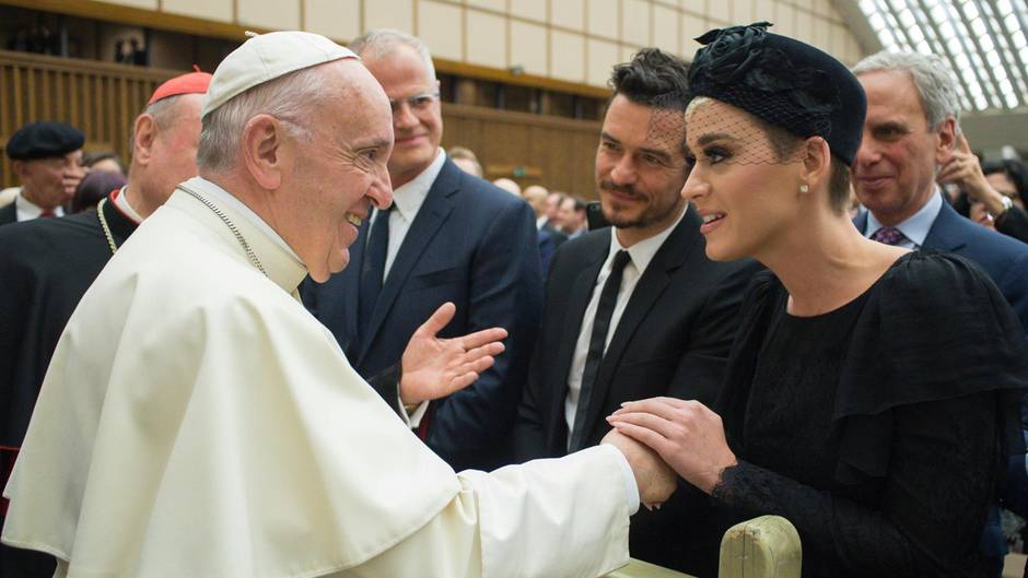 Katy Perry Orlando Bloom Papst Franziskus