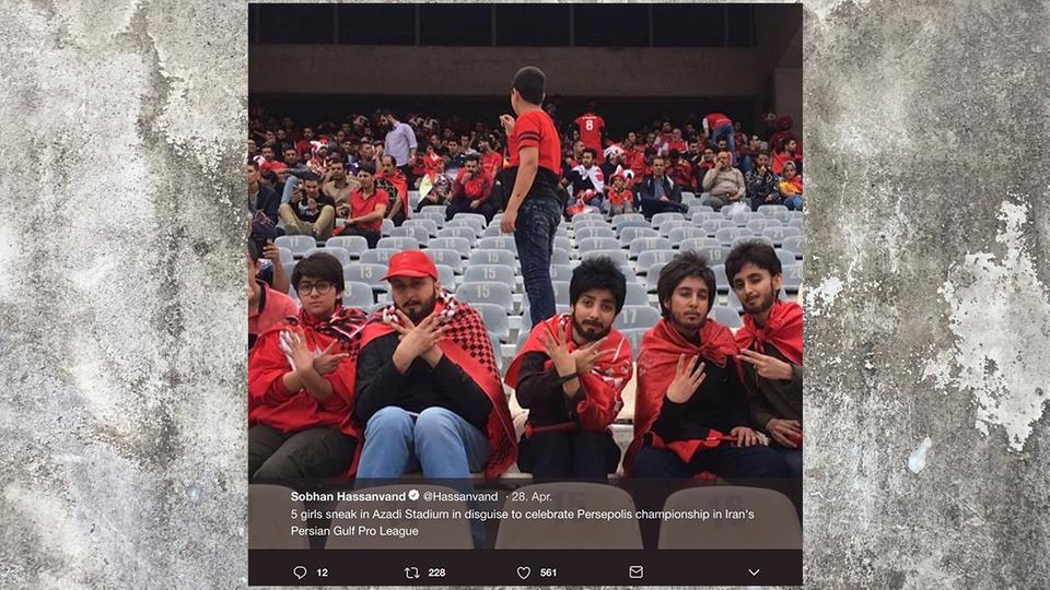 So trotzen fünf Frauen dem Stadionverbot im Iran