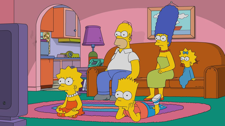 """""""Die Simpsons"""" im Wohnzimmer ihres Hauses"""