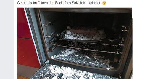 Grill-Zubehör: Wumms! Aldi-Salzstein explodiert plötzlich bei 220 Grad im Backofen