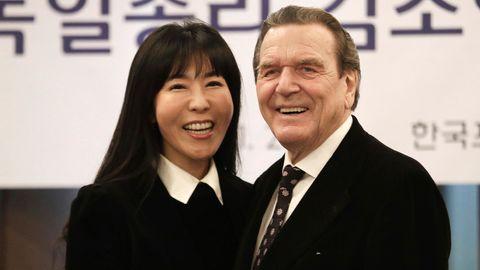 """Soyeon Kim und Gerhard Schröder: """"Habe faktisch schon lange getrennt gelebt"""""""