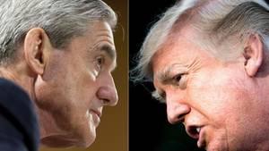 US-Sonderermittler Robert Mueller (l.) und Präsident Donald Trump