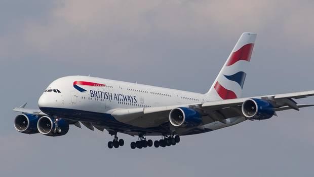 Eine von zwölf Airbus A380 in der Flotte von British Airways. Das Flaggschiff fliegt unter anderem täglich von London nach san Francisco.