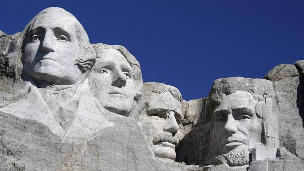 Mount Rushmore in South Dakota, USA