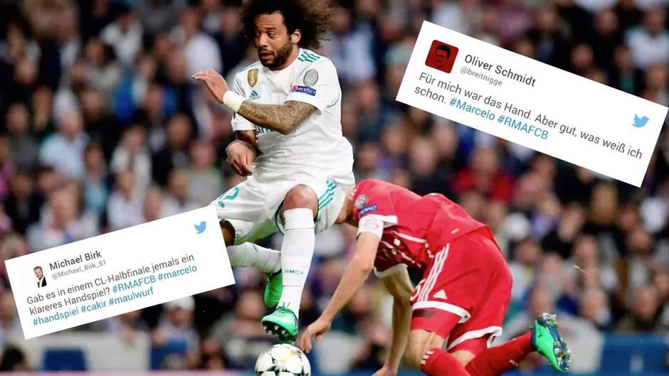 Real vs. Bayern: Bayern-Fans toben nach Marcelo-Handspiel