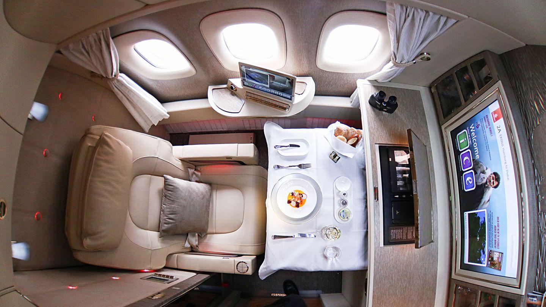 Die neue First Class Suite in einer Boeing 777-300Er von Emirates