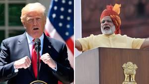 Donald Trump und Narendra Modi