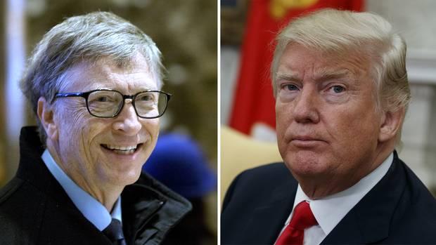 Bill Gates und Donald Trump