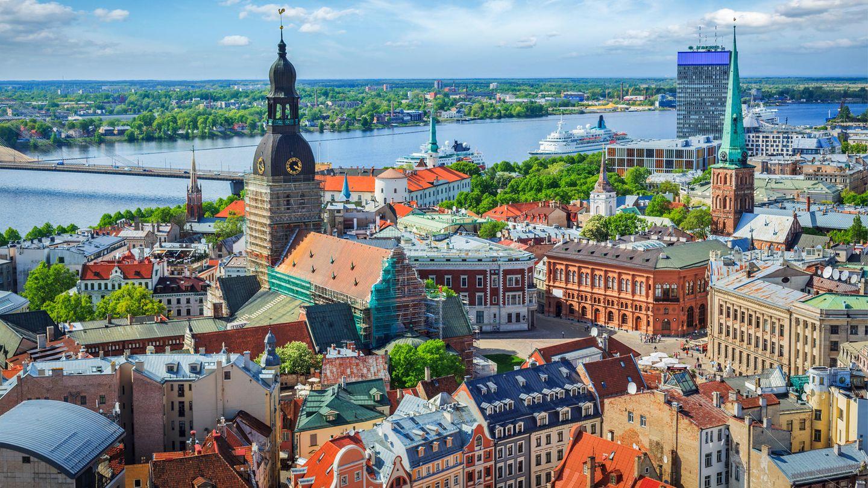 Platz 10: Riga  Die Hauptstadt Lettlands, die an der Mündung der Dünain die Ostsee liegt, kommt auf eine Grünfläche von 114 Quadratmetern pro Einwohner, eine sehr gute Zahl, wie das Ranking von Travelbird.de ergibt.