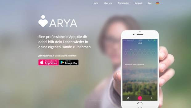 Die App Arya soll Menschen mit Depressionen das Leben erleichtern.