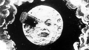 """Szene aus  Georges Méliès """"Die Reise zum Mond"""""""